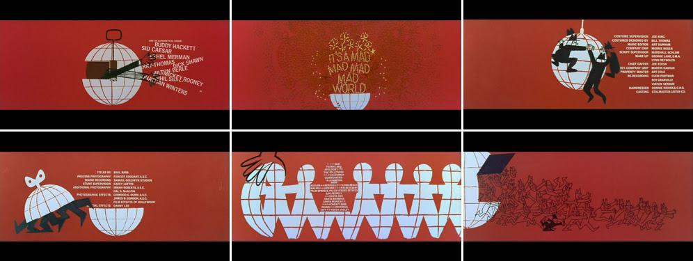 Saul Bass It's a mad mad mad mad world 1963 title sequence