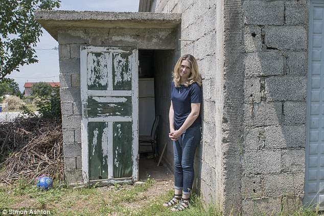 Cile is staying at her uncle's home in Gradec, Albania. The only toilet on the property is in an outhouse, and she collects water from a pipe outside, which she then has to boil in order to drink and clean with it
