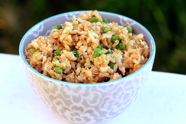 Fried Rice with Crab and Peas