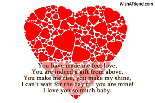 You Have Made Me Feel Love I Love You Poem