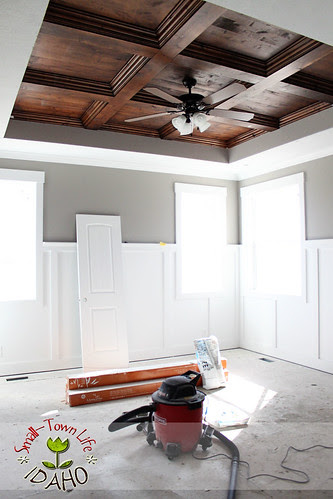 Master Bedroom Wood Coffered Ceiling
