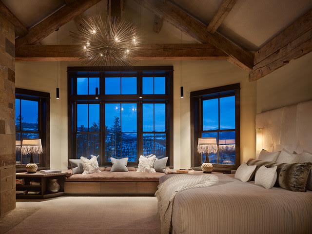 Rustic/Contemporary Master - Contemporary - Bedroom