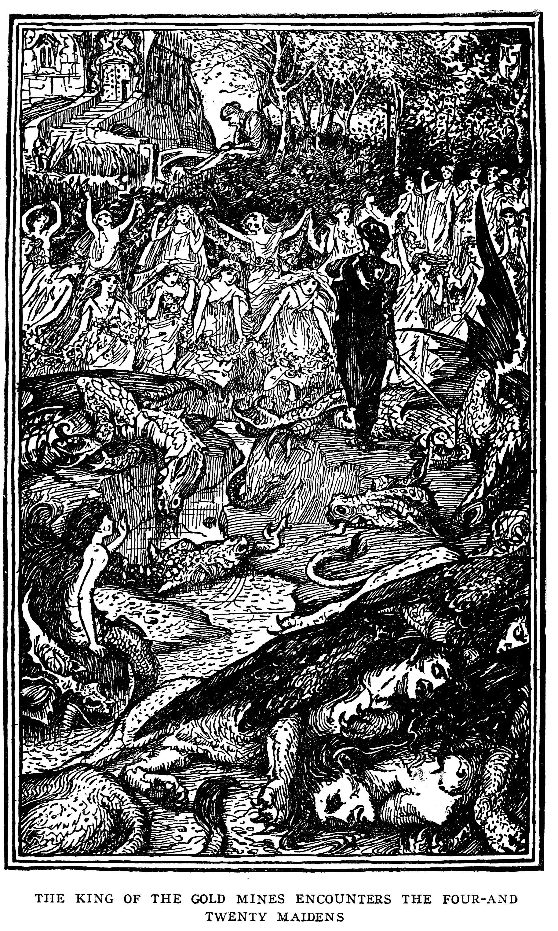 Henry Justice Ford - The blue fairy book, edited by Andrew Lang, 1920 (illustration 1)