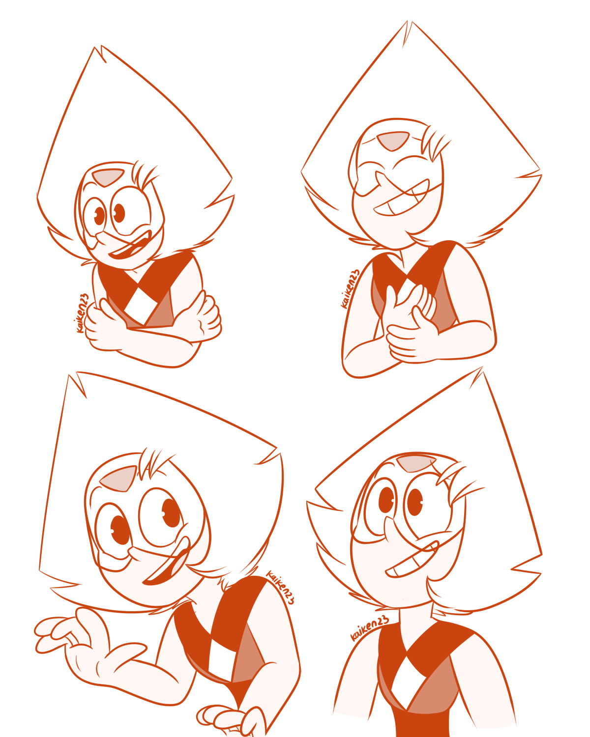 Day 77-81 - Laughing/Happy Peridot Day 82 - >:3c Day 83 - Happy Birthday ! (to me :oc)