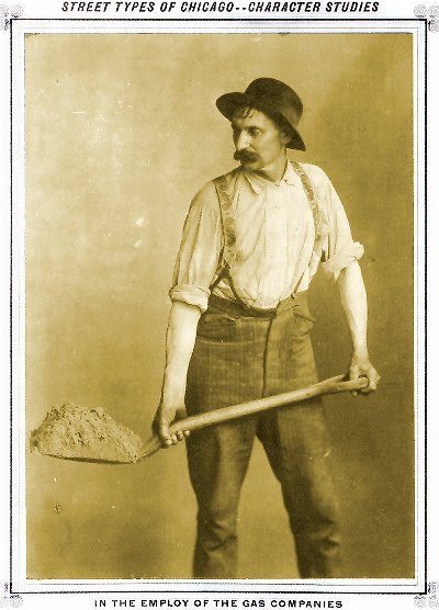 Italian man with shovel in hand