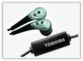 toshiba in ear earphones