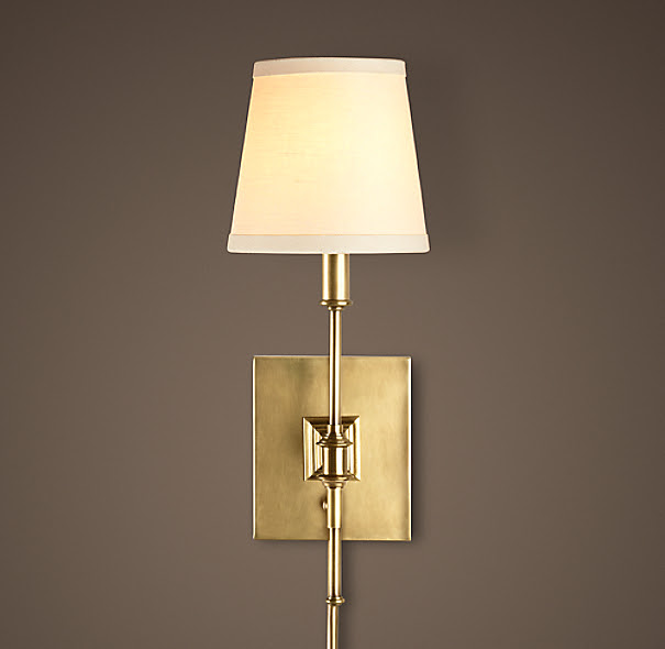 Library Sconce Antique Brass | Sconces | Restoration Hardware