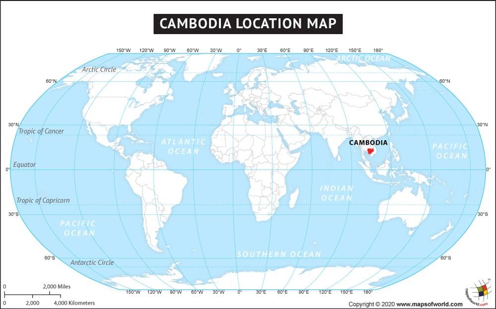 Cambodia World Map | GOOGLESAND