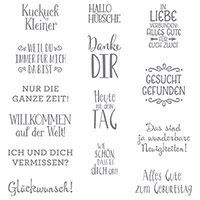 Erfreuliche Ereignisse Clear-Mount Stamp Set (German)