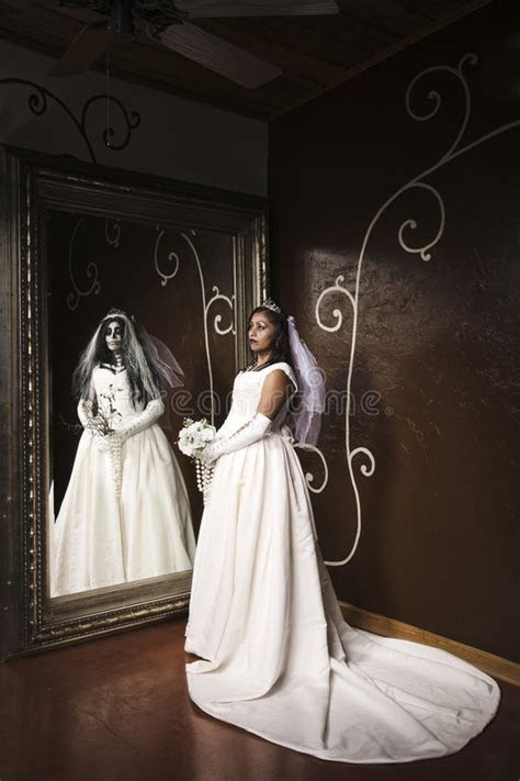 Wedding Day Zombie Bride And Groom Stock Photo   Image of