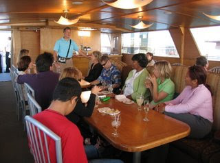 Mike addressing the Hornblower cruise attendees