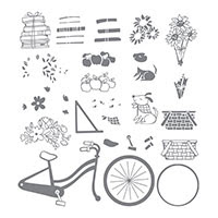 Bike Ride Photopolymer Stamp Set