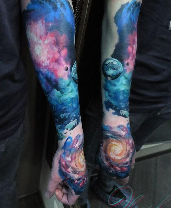 40 Space Tattoo Ideas Art And Design