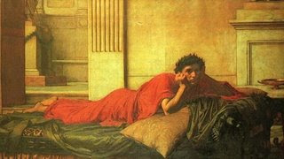 John William Waterhouse's The Remorse of the Emperor Nero after the Murder of his Mother