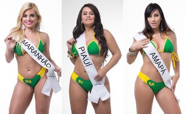 Fernanda Abraão, Miss Bumbum Maranhão / Cláudia Pires, Miss Bumbum Piauí / Mile Camargo, Miss Bumbum Amapá (Foto: MBB / Divulgação)