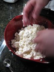 Crumbling Curd & Adding Salt
