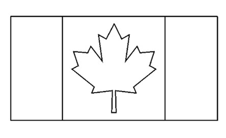 Canadian Flag Free Printable Colouring Pages
