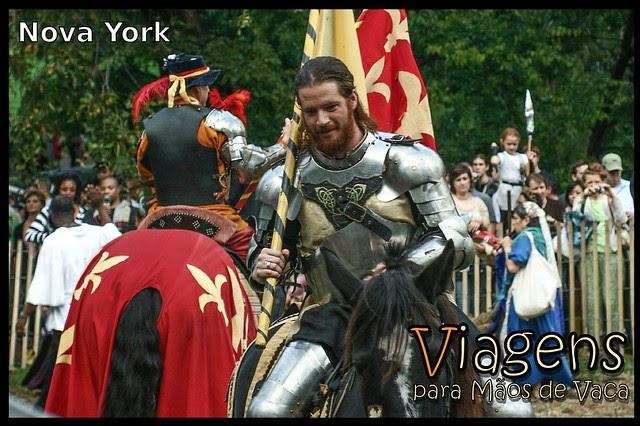 Cavaleiros e Princesas no Festival Medieval de Nova York