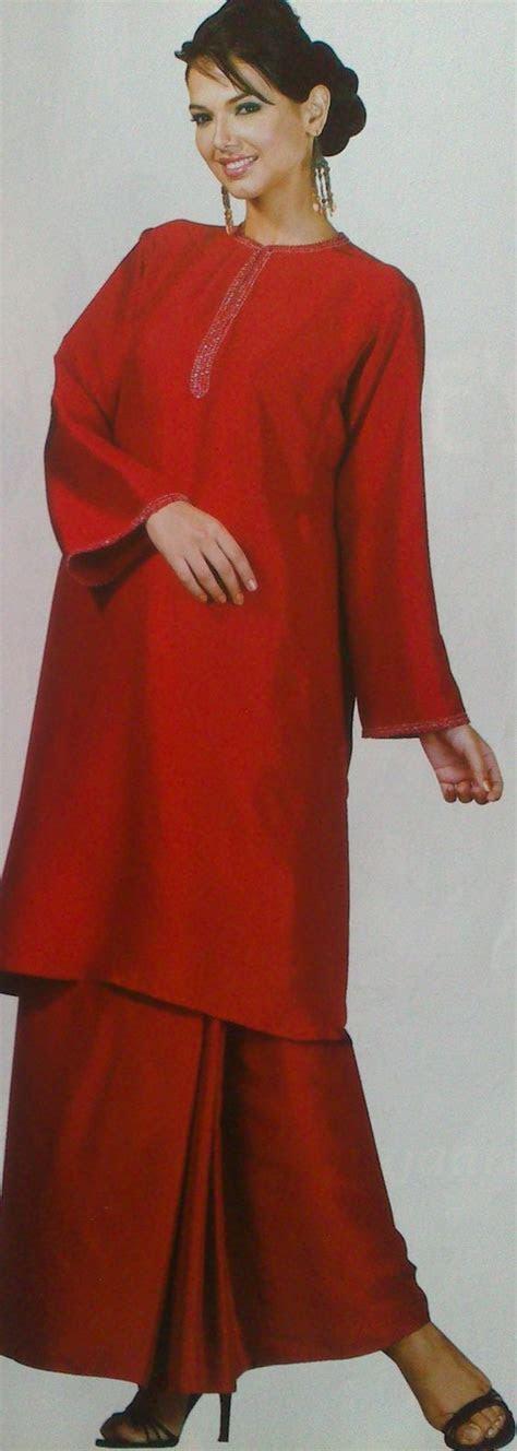 baju kurung sutera merah   rizalman malay traditional