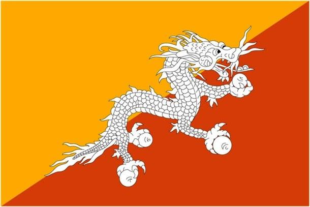 أعلام الدول الأكثر غرابة في العالم Bhutan