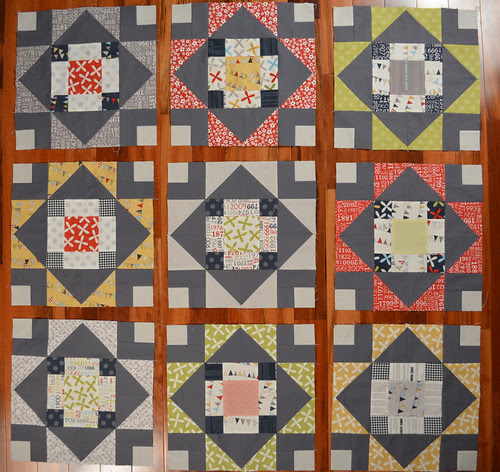 A few more blocks - Summer's Blush quilt
