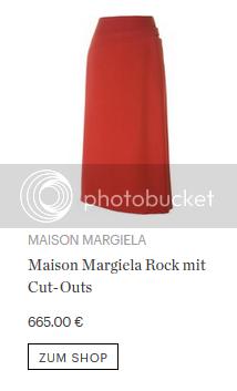 Maison Margiela Rock mit Cut-Outs