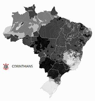 Mapa Corinthians (Foto: GloboEsporte.com)