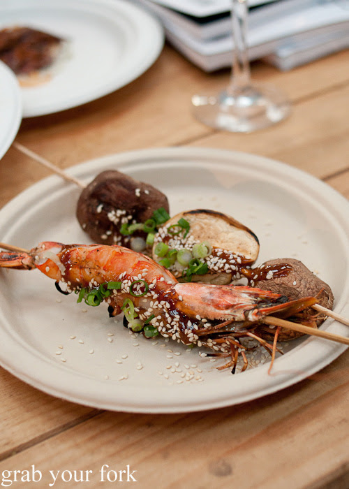 Sustainable tiger prawns and mushroom by Nic Wong, Ester at the Rootstock Sydney 2014 Night Festival