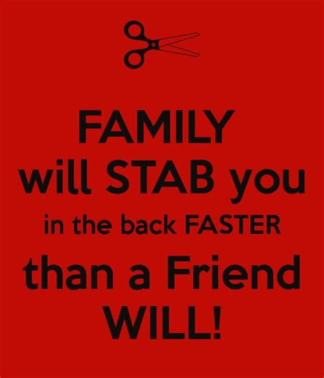 Family Stabs You In The Back Quotes