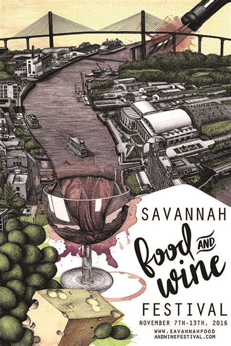 illustrated poster picked    savannah food