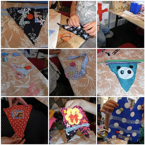 Bunting making with the Seaside Sisters