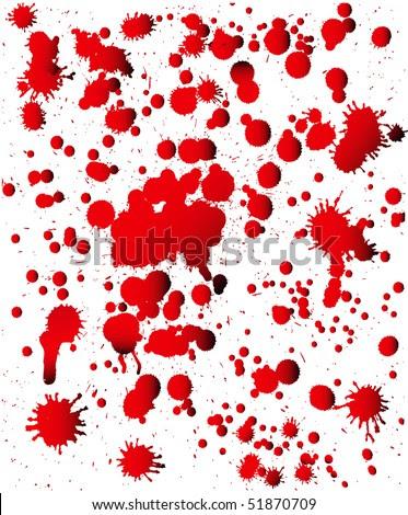 stock vector : Blood splats