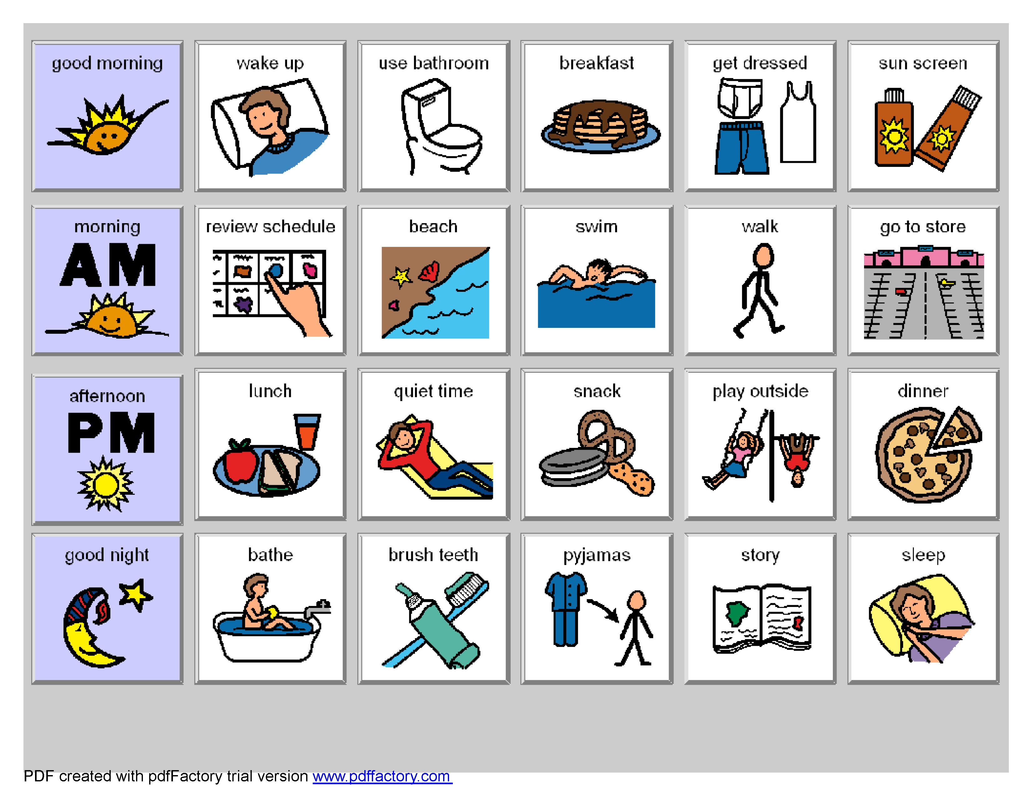 Daily Schedule Autism Printable   Daily Agenda Calendar