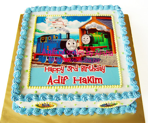 Birthday Cake Edible Image Thomas and Friends