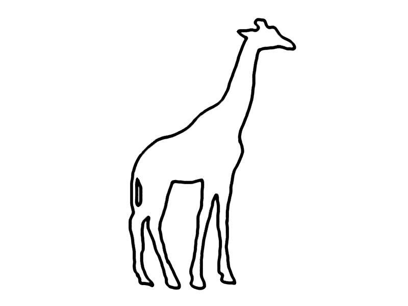 malvorlagen tiere giraffe