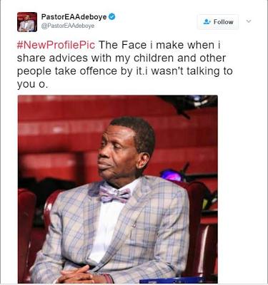 Hilarious Tweet By Pastor Enoch Adeboye