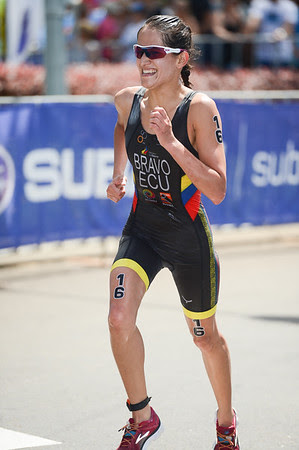 Elizabeth Bravo - 2015 Mooloolaba ITU Triathlon World Cup Women - 2015 Mooloolaba Triathlon Multi Sport Festival, Sunshine Coast, Qld, AUS; Saturday 14 March 2015. Photos by Des Thureson - http://disci.smugmug.com. Camera 1.