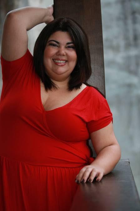 Fabiana Karla antes da cirurgia, quando pesava 113kg