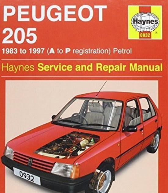 Peugeot 205 Service And Repair Manual Pdf Download