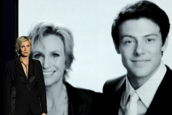 Jane Lynch and Cory Monteith