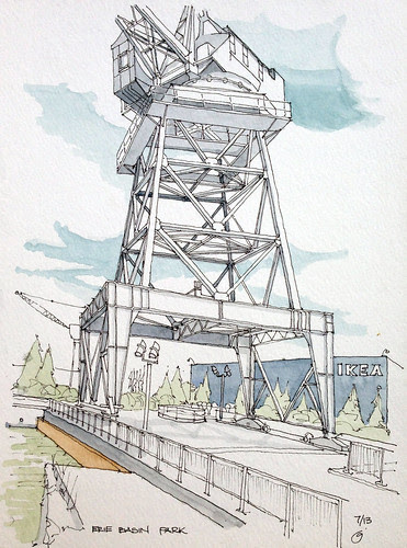 Brooklyn Crane by James Anzalone