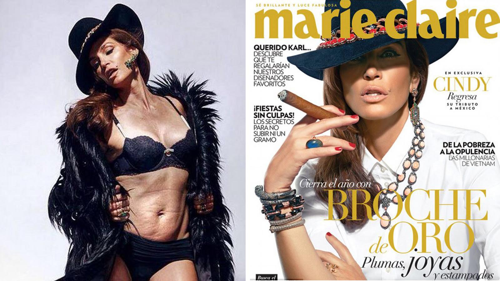 Cindy Crawfords Unaltered Mag Photo Goes Viral La Times