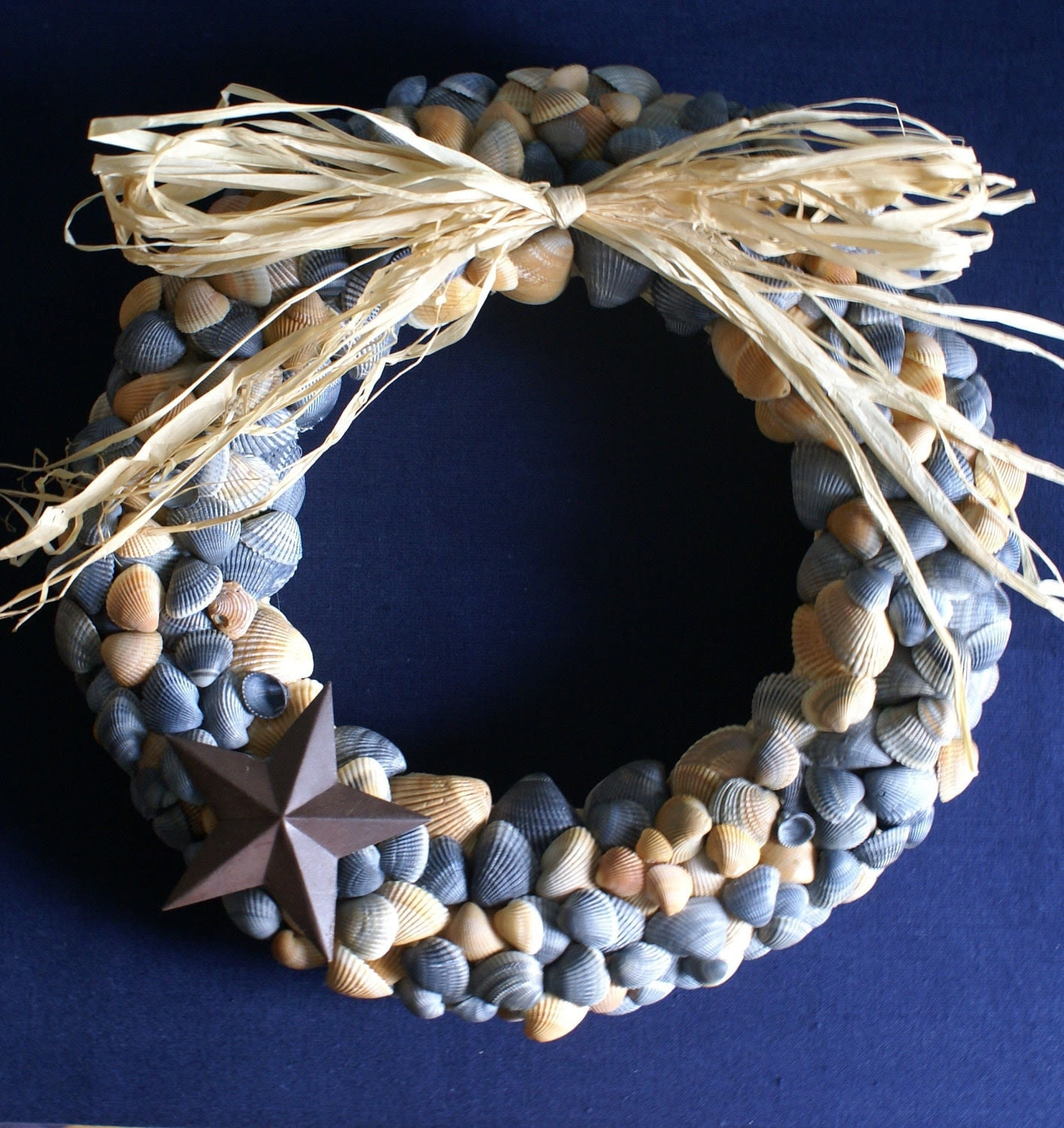 Seashell wreath 115 inches Texas Star Western style by JustShellin
