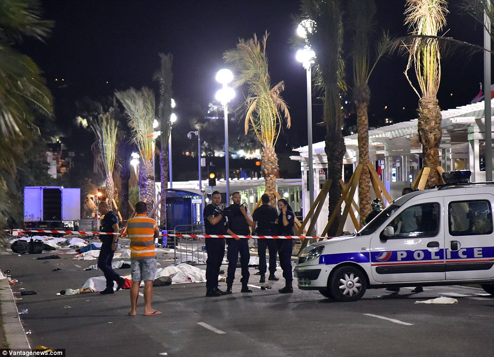 Investigation: Police in France are now treating this as a terrorist attack and have admitted the killer was known to them and is believed to be from Nice via Tunisia