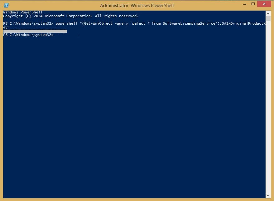 how to find the product key of windows 10 using command prompt