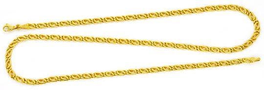 Originalfoto MASSIVE GOLDKETTE GELB-GOLD PFAUENAUGE TIGERAUGE