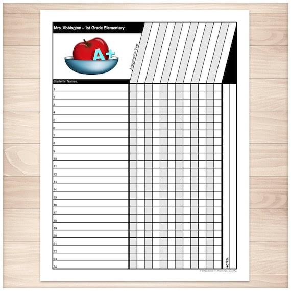 Editable Grade Sheet
