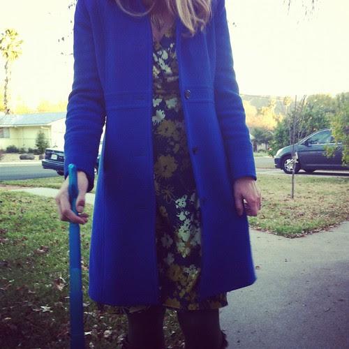 39/366 :: me in my blue coat