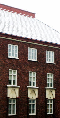 Lunta katoilla 5.11.2009 Töölössä