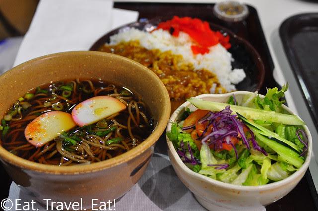 Miyabi Tei: Hot Soba, Sala, and Curry Rice Set